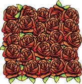 růže vektorové ilustrace pozadí pat