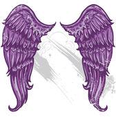 ručně tažené tattoo stylu křídla převedeny