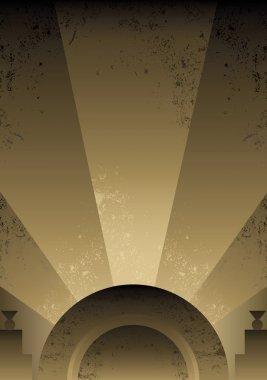 Art Deco Futurist style background desig