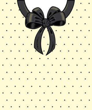 Chic polka dots and ribbon on a shirt de