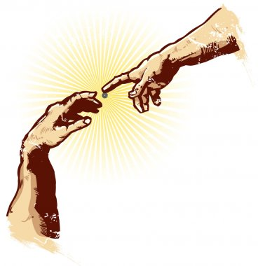 The Hands of Creation Religion Vector Il