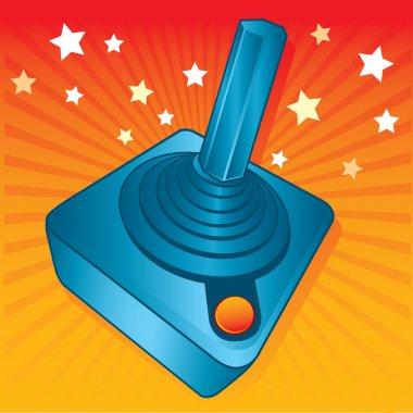 Retro style games joystick vector illustration. fully editable stock vector