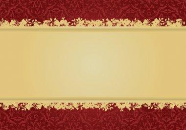 Decorative floral background vector desi