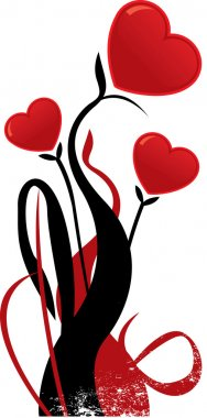 Valentines heart shaped flower vector il