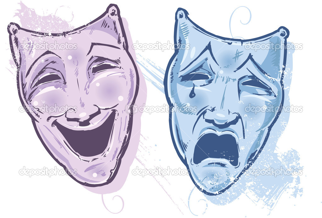"""Résultat de recherche d'images pour """"masque théâtre triste"""""""