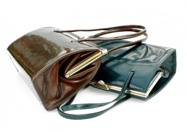 Two leather handbags