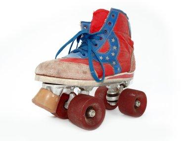 Vintage style old roller skate