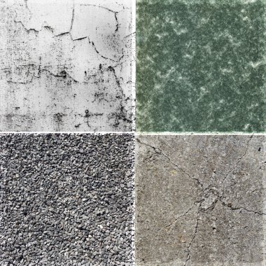 Collection of rough stone background tex