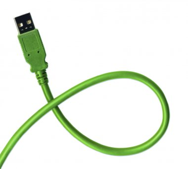 USB Plug and cable including clipping pa