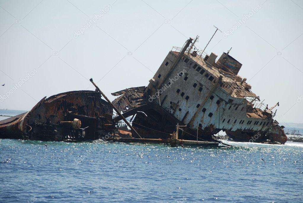 Ship-wreck of Russian ship