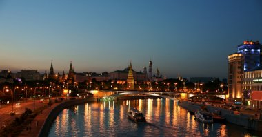 Night Moscow, the Kremlin.
