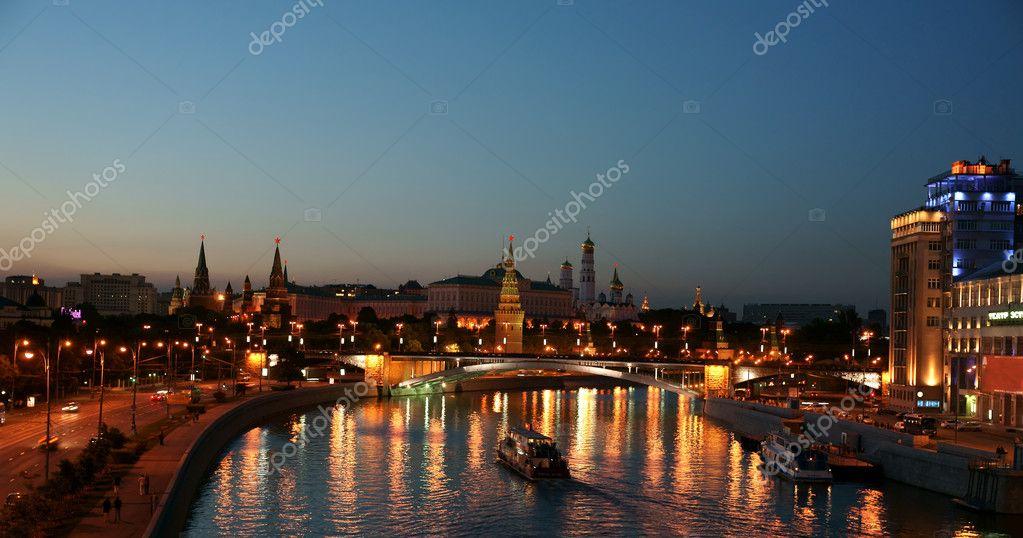 Night Moscow, the Kremlin.
