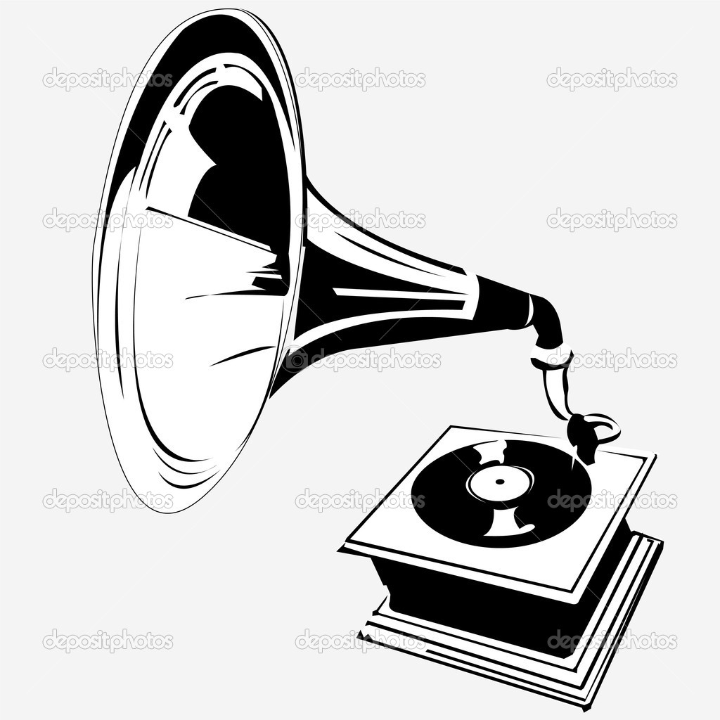 and old gramophone stock vector c stiven 2838521 and old gramophone stock vector c stiven 2838521