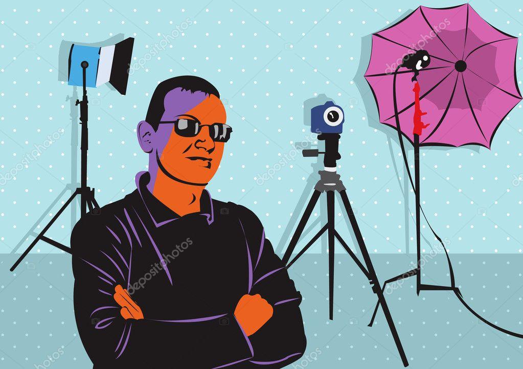 Model in photo studio