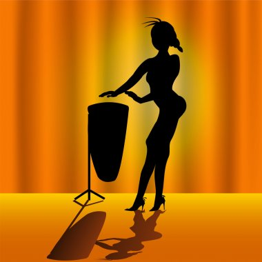 Girl with timpani drums