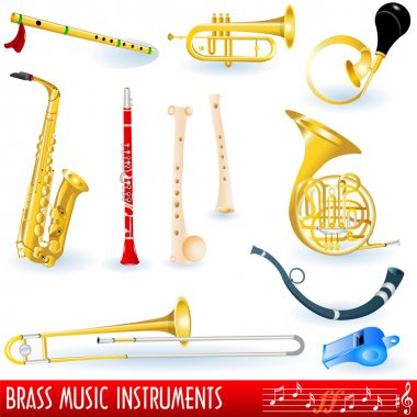 Brass music instruments
