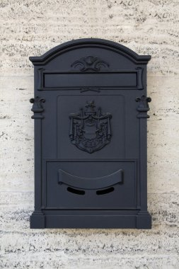 Black post box