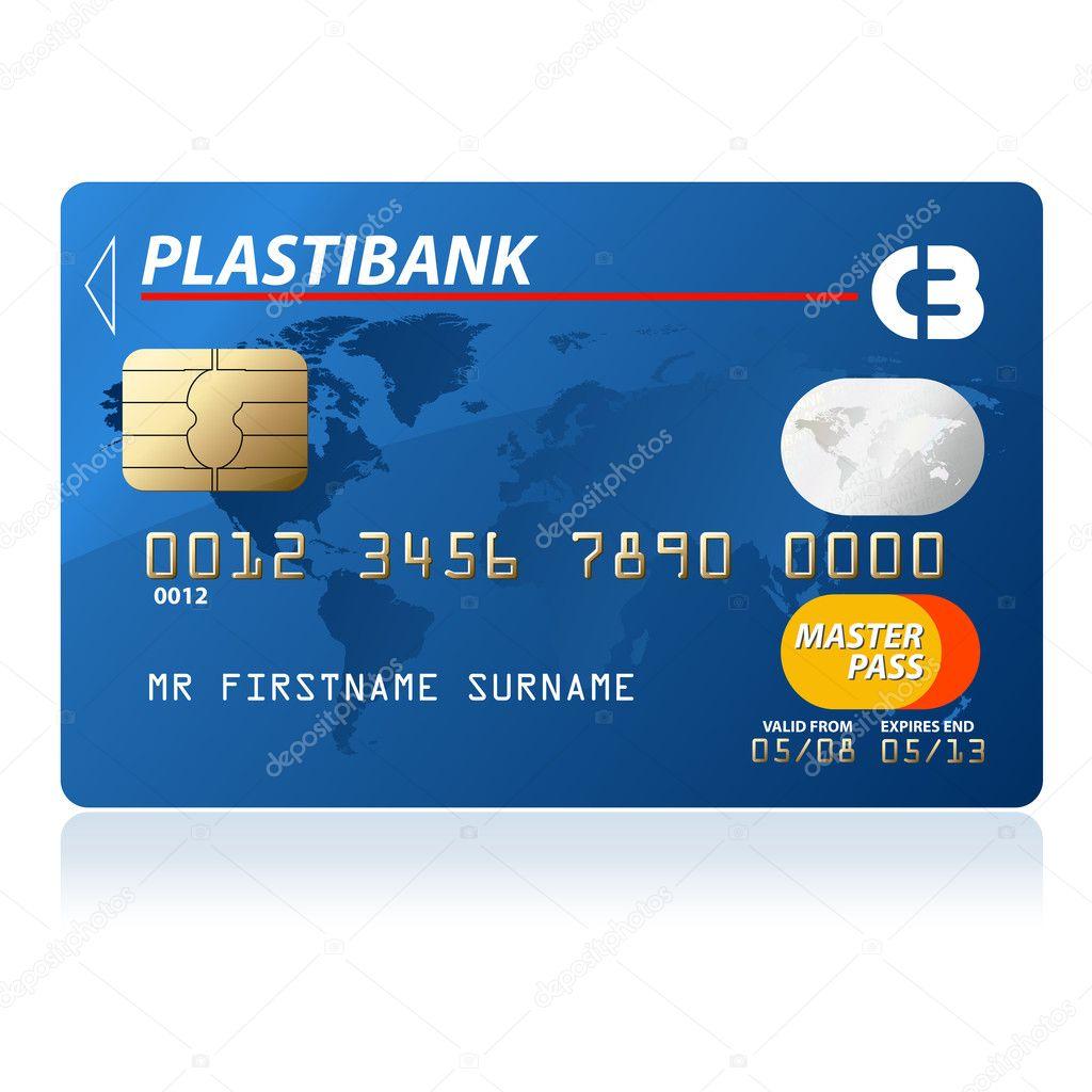 Credit card — Stock Vector © tiloligo #2855143