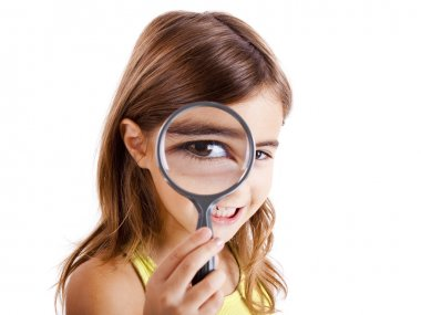 Looking through a magnifying glass