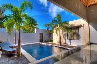 Swimming in villa