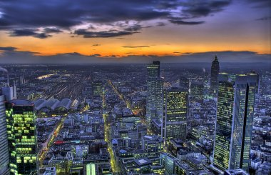 HDR-sunset over Frankfurt