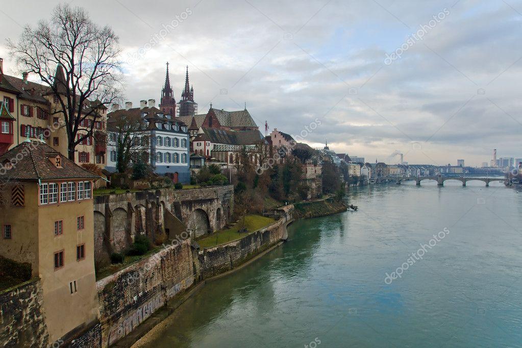 Basel, Switzerland: Panorama of city and