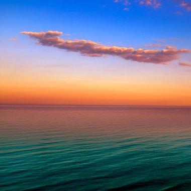 Beautiful sunset above the sea stock vector