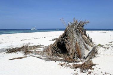 Desert island beach shelter