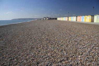 Beach huts seaford head sussex