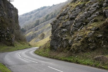 Cheddar gorge road somerset england