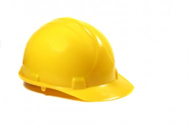 Yellow hard Hat isolated on a white background stock vector