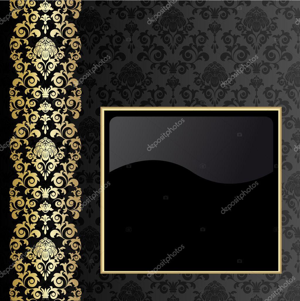 schwarz und gold hintergrund — Stockvektor © len_pri #2806202