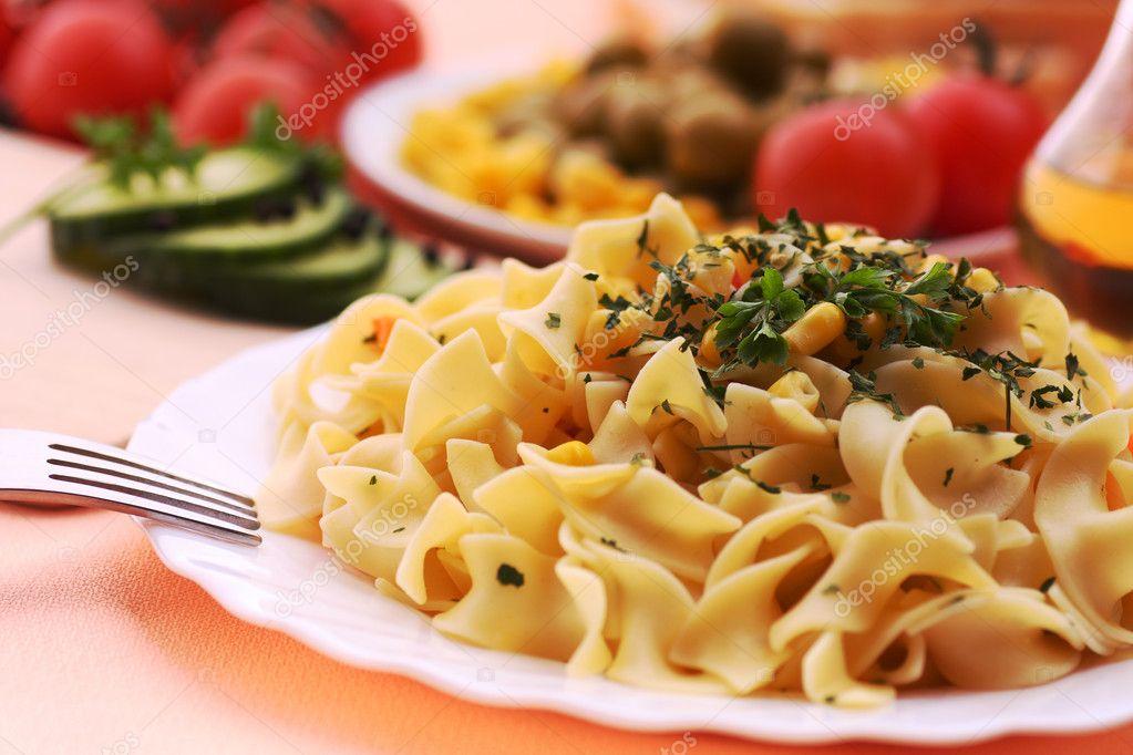 Delicious pasta meal