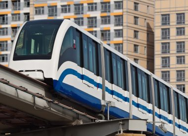 The Moscow monorail railway
