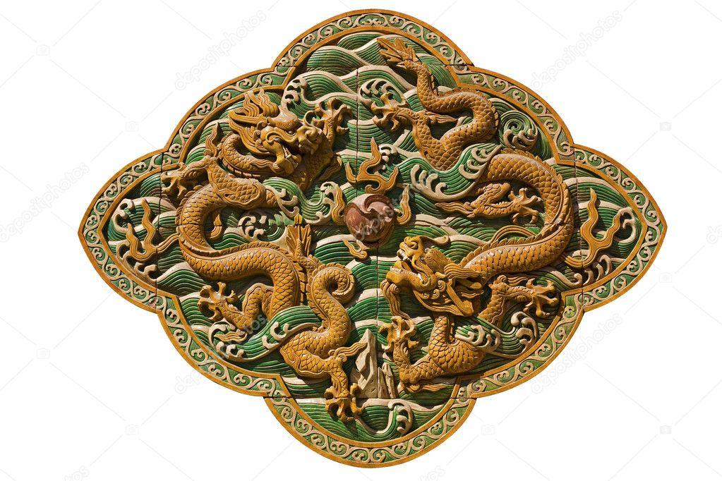 Dos Dragones Jugar A La Pelota China Foto De Stock Liondw 2862258