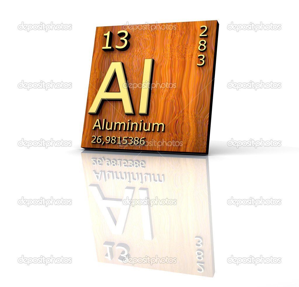 aluminum form periodic table of elements wood board photo by fambros - Periodic Table Aluminum
