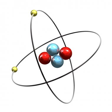 3d Helium Atom