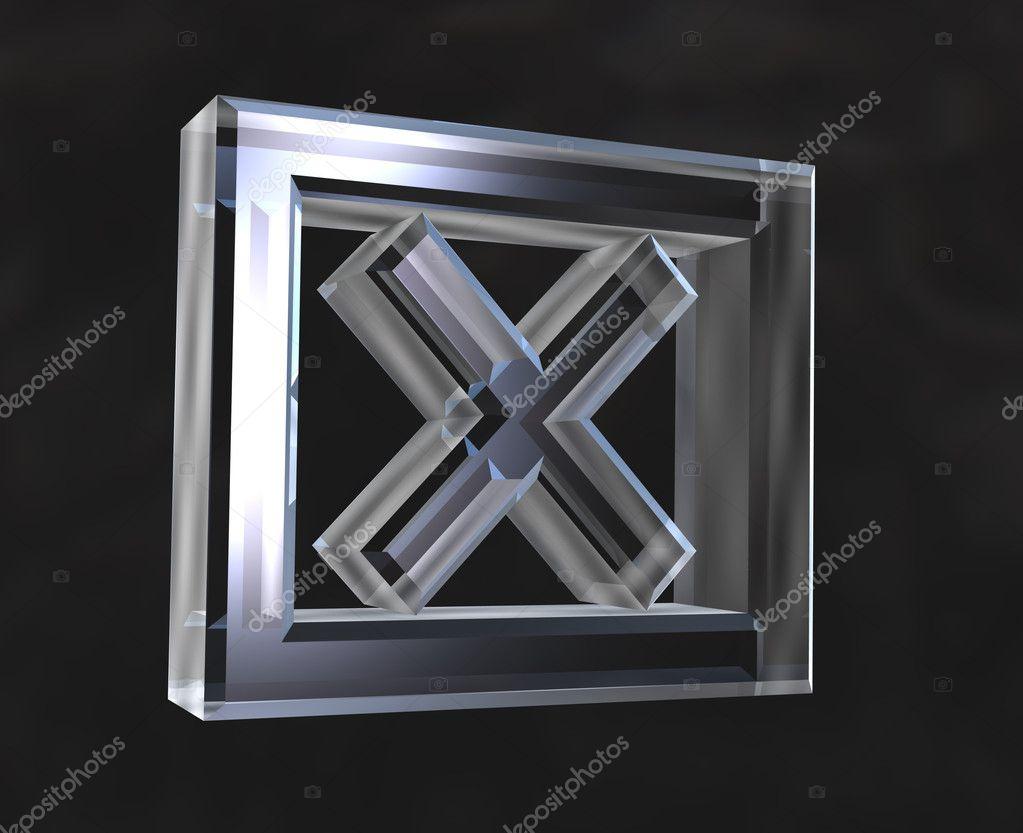 X checked box symbol in glass 3d fotografias de stock x checked box symbol in glass 3d fotografia de stock biocorpaavc Gallery
