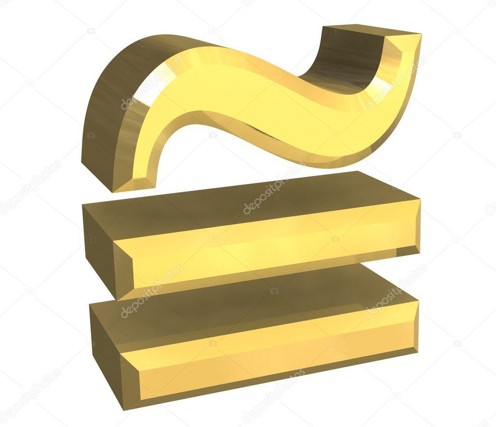 Altın Matematik Sembol Yaklaşık Eşit Stok Foto Fambros 3169734