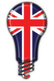 Fotografie English britain button flag lamp shape