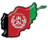 Afghanistan button flag map shape