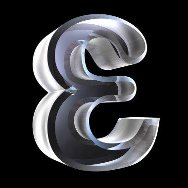Epsilon symbol in glass (3d)