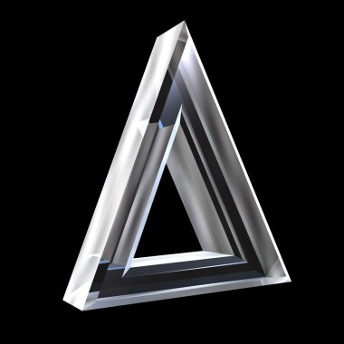 Delta symbol in glass (3d)