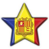 Photo Andorra button flag star shape