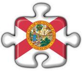Fotografia Figura di puzzle della bandierina del tasto di Florida (stato Usa)