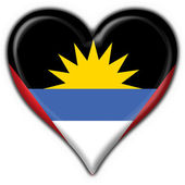 Antigua  Barbuda button flag heart shape