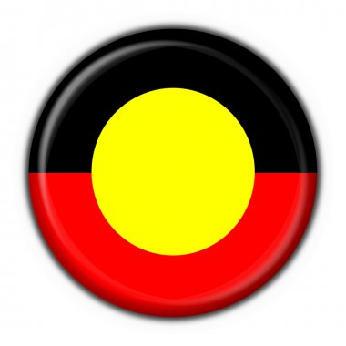 Australian Aboriginal button flag round shape