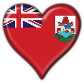 Photo Bermuda button flag heart shape