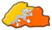 Fotografie Bhutan button flag map shape