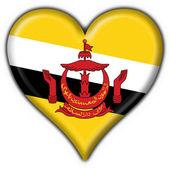 Photo Brunei button flag heart shape